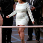 Expectant Mother Blac Chyna looked uncomfortable in her velvet dress as she steps out