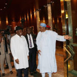 Breaking! Former President Goodluck Jonathan currently in a meeting with President Buhari(Photos)