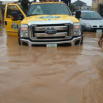 LASEMA rescue victims, including children trapped by flood in Lagos
