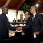 """Buhari shouts in US """"Politicians stole our money and paid Militants to fight us"""""""