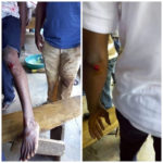 Police allegedly stood aside to watch while thugs attacked protesting workers in Ogun State (PHOTOS)