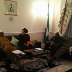 Amosun visits Buhari in London