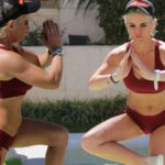 Weight Loss: Danniella Westbrook flaunts tummy in tiny crop top as she practices yoga