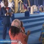 Stephanie Otobo's Mother begs Apostle Suleman in his church to forgive her daughter