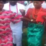 Lady shares this shocking video of a woman rubbing a bride's tummy in a 'sinister' manner