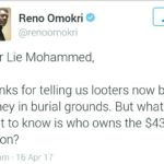 Reno Omokri blasts Lai Mohammed: Tell us who owns the $43 million?