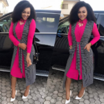 After the domestic violence Mercy Aigbe all smiles to Church