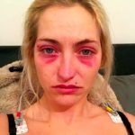 SAD Horrific moment a thug ran over his lover and battered her with a log