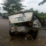 Car Accident: Keke escaped death while Toyota car badly damaged in Yenagoa