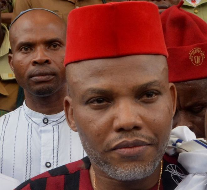 """""""We are not afraid in our quest.."""" Kanu tells  South East senators"""