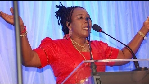 Nollywood actess Patience Ozokwor preaches in London