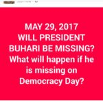 See What Will Happen In Nigeria on May 29