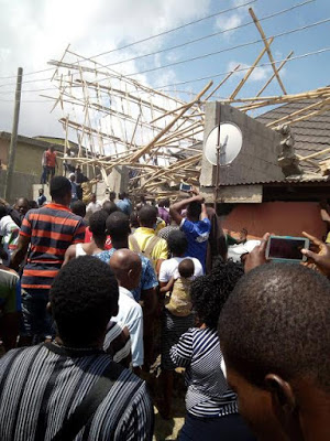 Many trapped as three-storey building under construction collapses in Lagos
