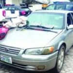 Police rumbles with robbers in Bayelsa shootout, recover vehicle, weapons