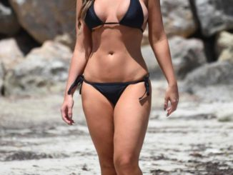 Vicky Pattison displays her stunning figure in a bikini after three stone weight loss