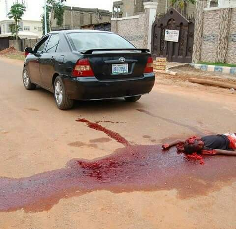 Horrific Photos of the week - Nollywood Nailed It (Graphics Photos)Accident scene as Car crushed a young boy