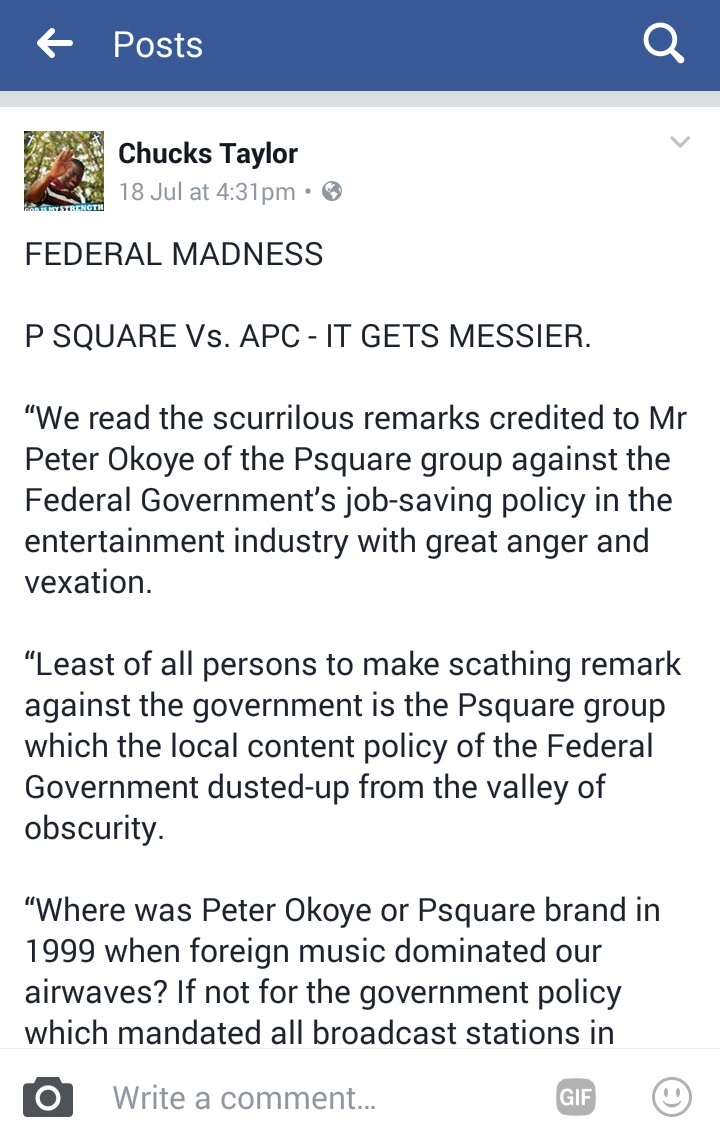 Peter Okoye, Peter Okoye of P square vs. APC Government, Latest Nigeria News, Daily Devotionals & Celebrity Gossips - Chidispalace