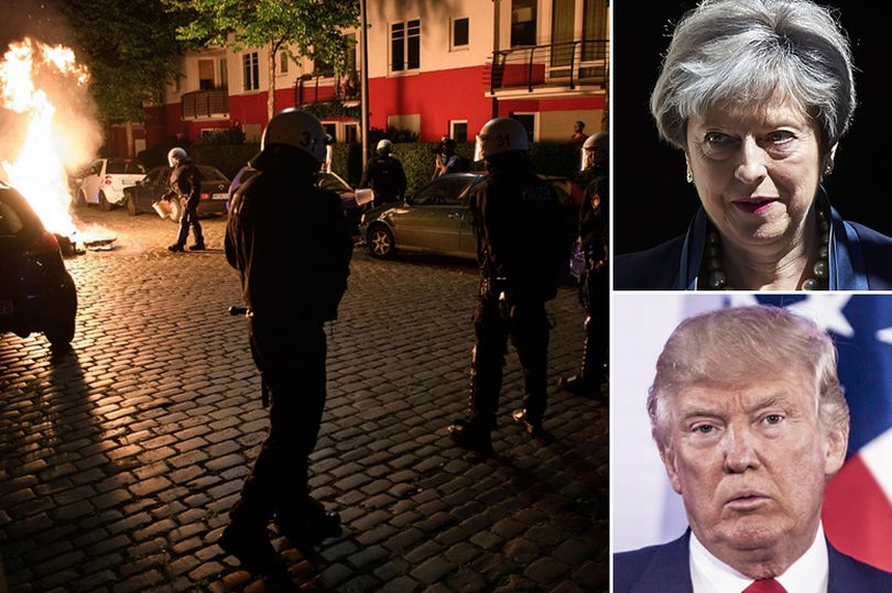 G20 riots, [Photos] 76 police officers injured including two helicopter pilots blinded by laser during anti-G20 riots in Hamburg, Latest Nigeria News, Daily Devotionals & Celebrity Gossips - Chidispalace