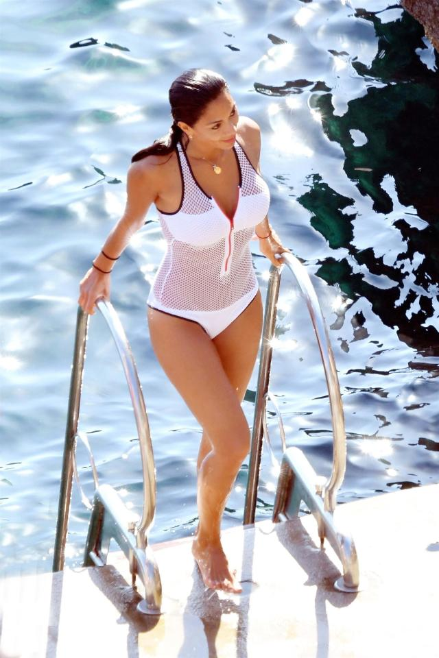 X Factor judge Nicole Scherzinger looks stunning in mesh swimwear on holiday in Italy