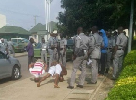 Photo of Hilarious Footage as Custom officers punish 2 impersonators