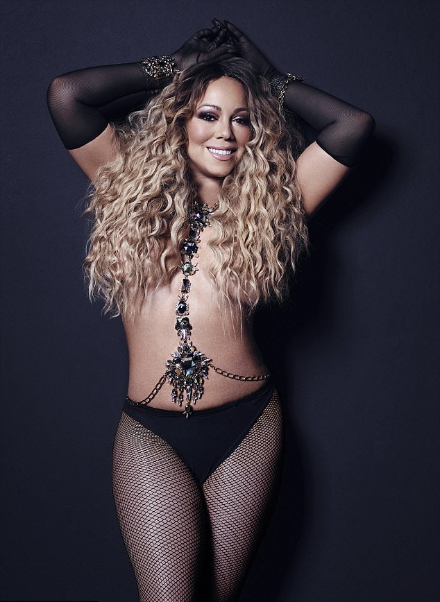 Mariah Carey flaunts bikini body in sparkly swimsuit, Mariah Carey, 49, flaunts bikini body in sparkly swimsuit while posing poolside in St. Barts (Photos)