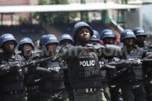 Police Officers, 2,000 Nigeria police officers protest over non-payment of salaries