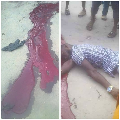 Breaking: Nigerian Soldiers murder an innocent tailor in Aba [Graphics Photos]