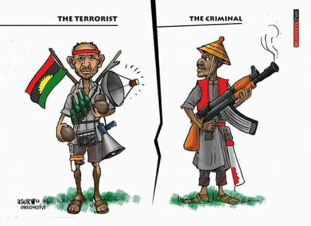 Ipob, Photo: Who is a terrorist, IPOB or Boko Haram?, Latest Nigeria News, Daily Devotionals & Celebrity Gossips - Chidispalace