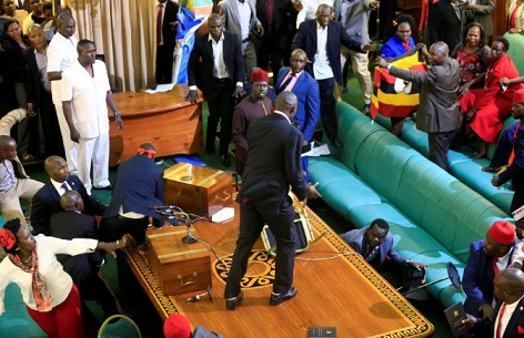 Photo of Uganda Lawmakers show of shame for 2nd term over president's re-election [Photos]