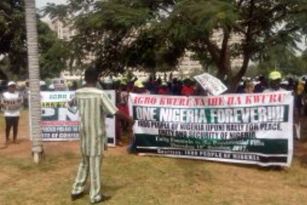 Igbo group storm Abuja, pledge loyalty to Buhari, one Nigeria