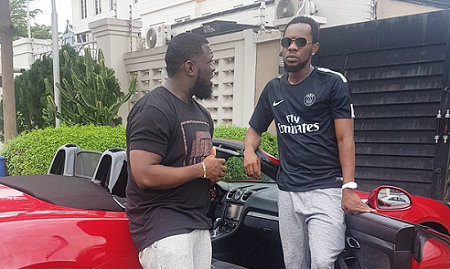 Photo of PATORANKING show off his new ride as he visits Timaya