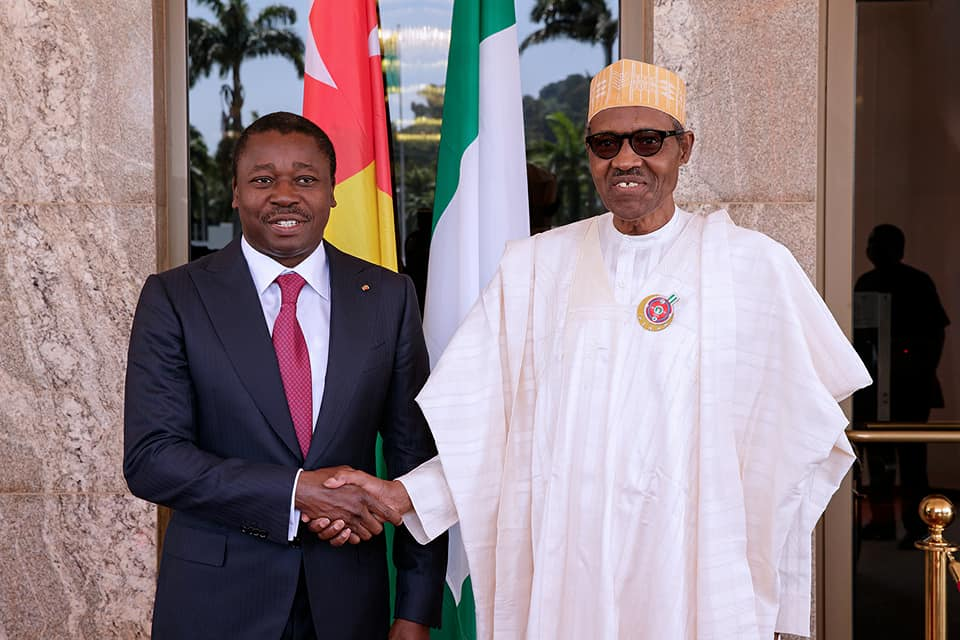 Photo of Buhari in a secret meeting with his Togolese counterpart, Gnassingbé