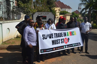 , Libya Slave Trade: Charly Boy's group shuts down Libyan Embassy in Abuja, Latest Nigeria News, Daily Devotionals & Celebrity Gossips - Chidispalace