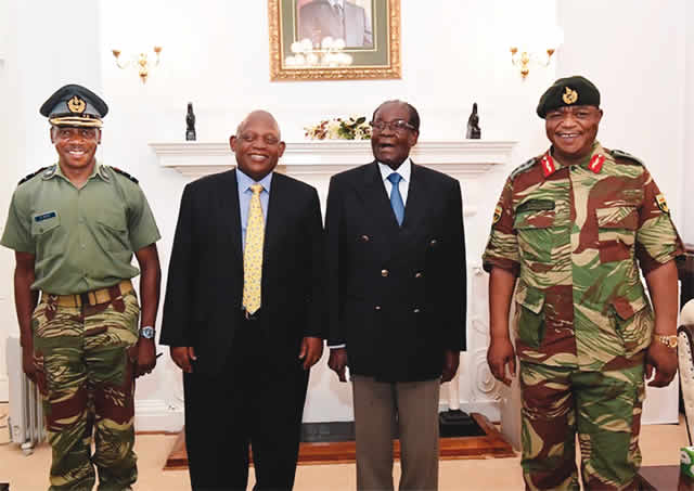 93-year-old Mugabe resists military pressure to resign