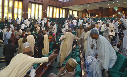 Photo of House of Reps shout 'No, no, no' over Buhari's intention