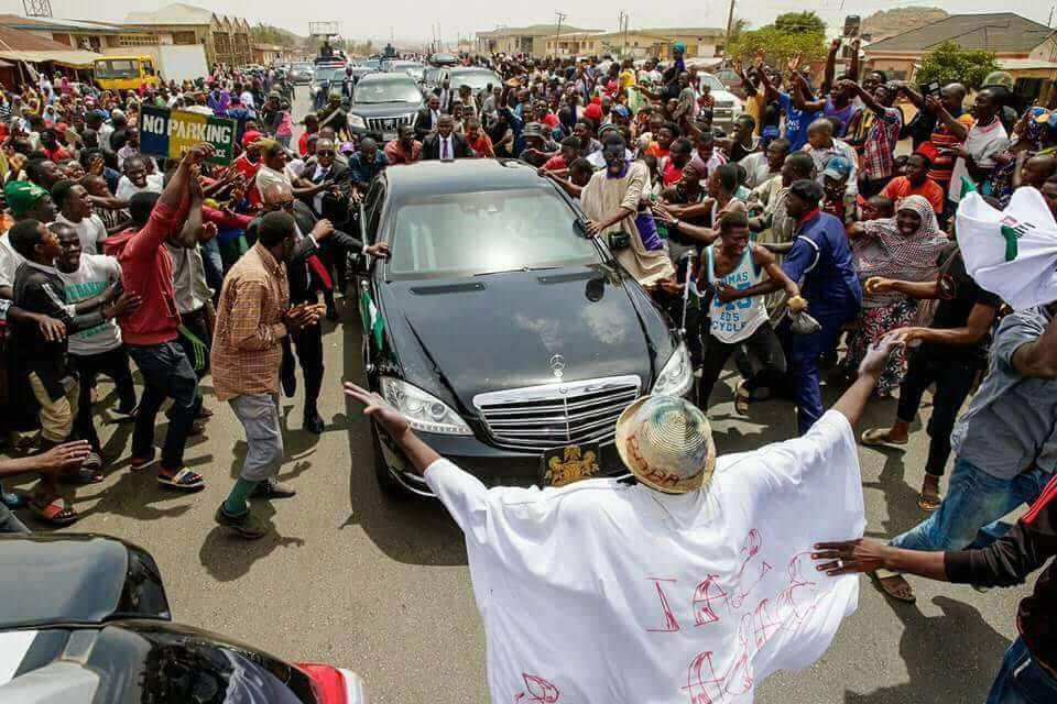 Photos of Buhari's visit to Plateau state