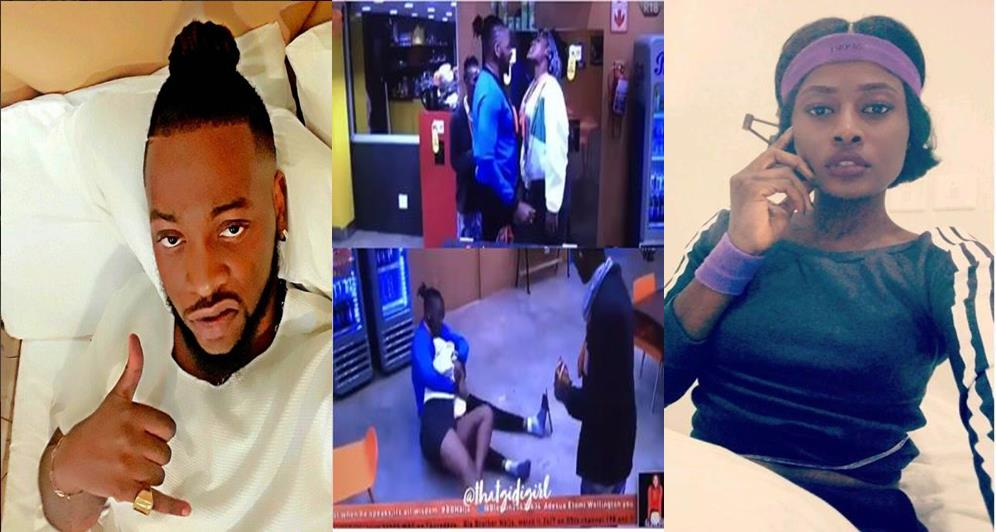 BBNaija 2018: Watch Video of Teddy A forcefully pressing Alex's boobs after she grabs his manhood