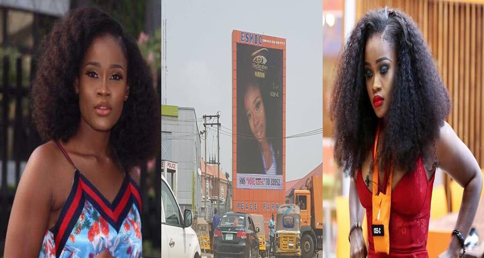 Cee-c, BBNaija 2018: Die-hard fans of Cee-c errect giant Billboard for her, Latest Nigeria News, Daily Devotionals & Celebrity Gossips - Chidispalace