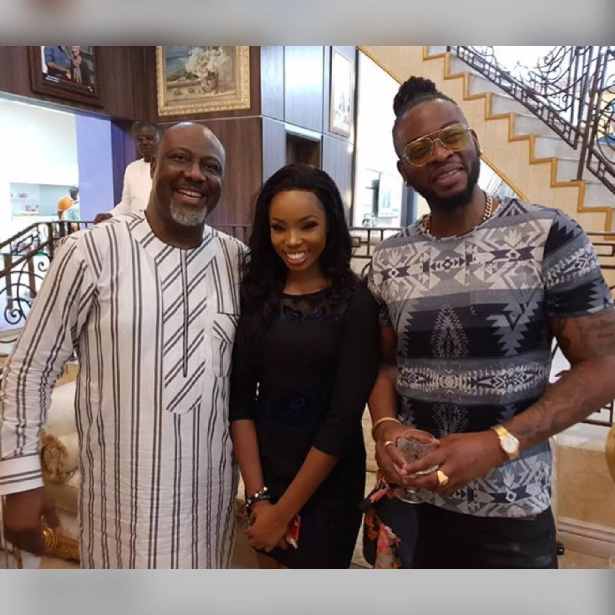 BBNaija 2018: Dino Melaye hosts Bambam,Teddy A - See Photo