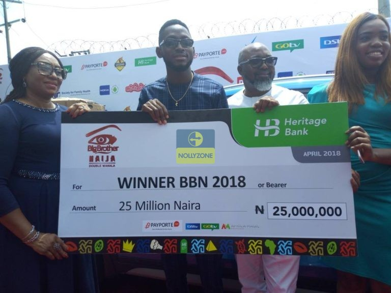 Photo of BBNaija 2018: Miracle presented with cheque of 25 million Naira plus SUV car – Photos