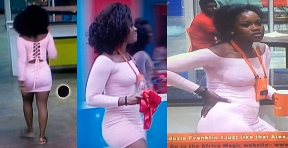 Cee-c in new pink dress