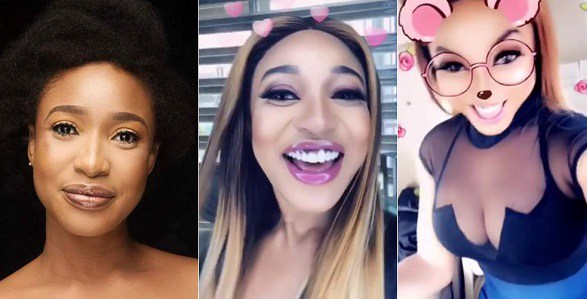 Tonto Dikeh shows off her cleavage while praising her plastic surgeon