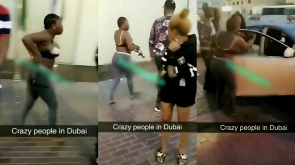dubai, Angry Nigerian lady strips nak3ed to fight in the streets of Dubai – Video, Latest Nigeria News, Daily Devotionals & Celebrity Gossips - Chidispalace