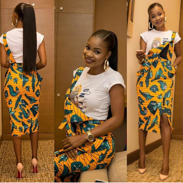 Ankara pinafore style, 3 MOST LOVELY ANKARA PINAFORE STYLES FOR CLASSY LADIES