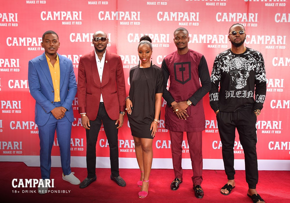 Photo of 2Baba, Harrysong, Tobi, Teddy-A, BamBam Linda Osifo & others storm the launch of Campari 'Make It Red'