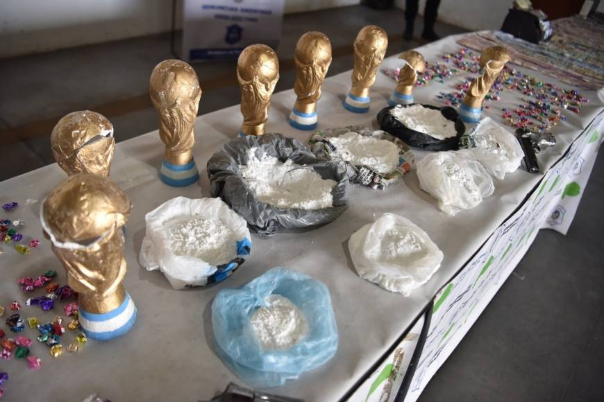 Argentine Authorities arrest suspects with fake world cup containing weed and cocaine