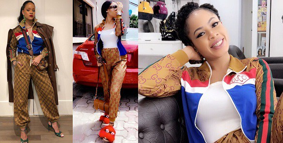 Nina, BBNaija Nina under fire for allegedly wearing a fake Gucci tracksuit