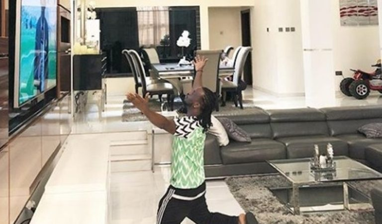 2018 World cup: See what Paul Okoye did before super eagles' match against Iceland