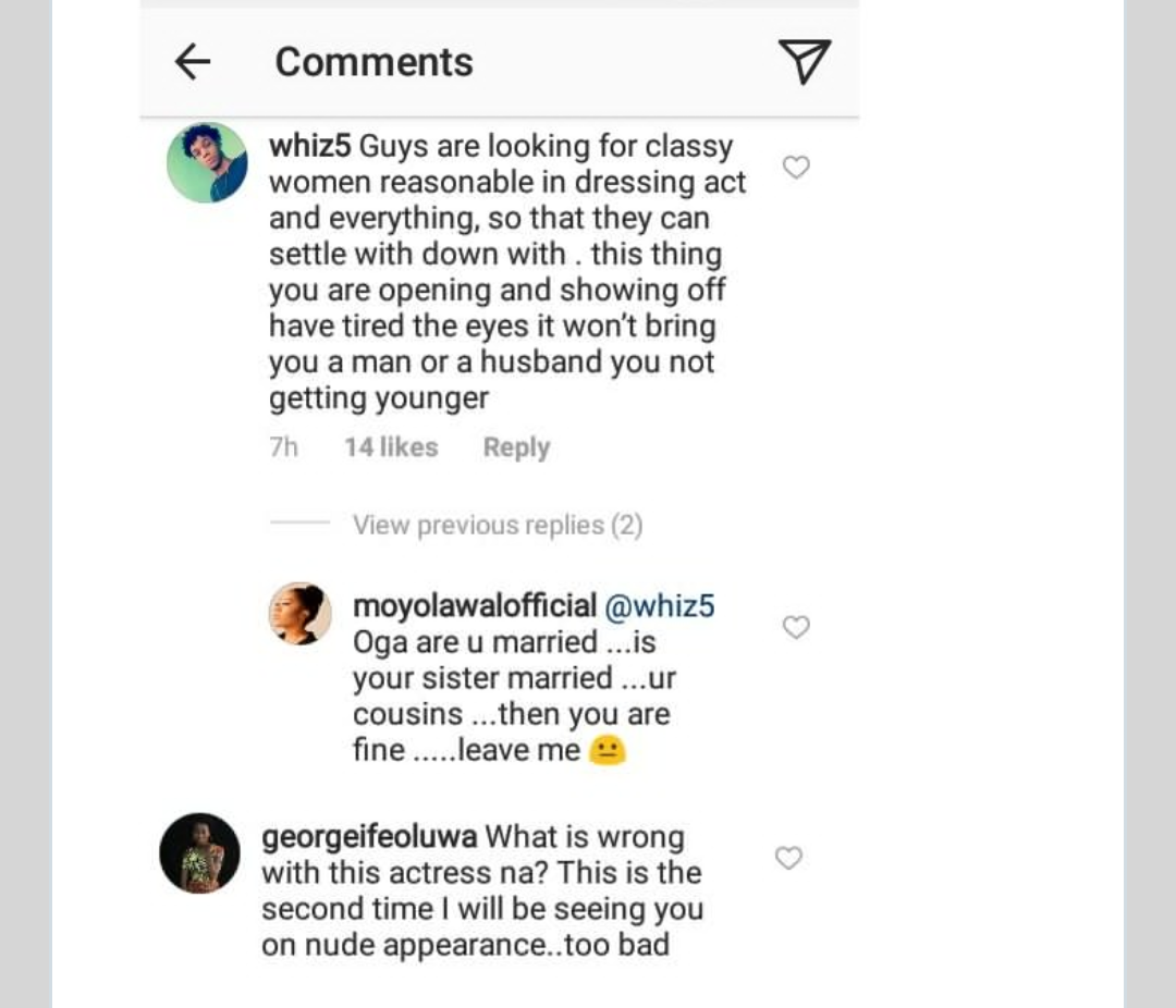 Always controversial! Controversial Nollywood Actress Moyo Lawal who is renowned for her role in movies as well as her banging body, took to her Instagram p