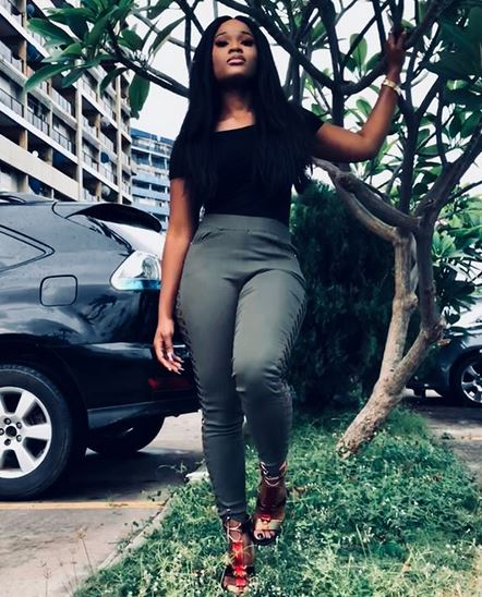 Pants, Cee-C shows off her curves in laced up fashion pants, celebrates Teddy A on his Birthday